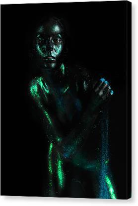 Artistic Nude  Green Skin  Canvas Print by Dan Comaniciu