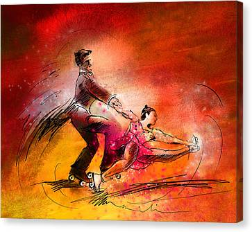 Artistic Roller Skating 02 Canvas Print by Miki De Goodaboom