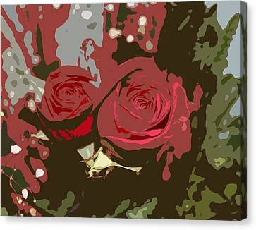 Artistic Roses Canvas Print