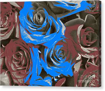 Artistic Roses On Your Wall Canvas Print