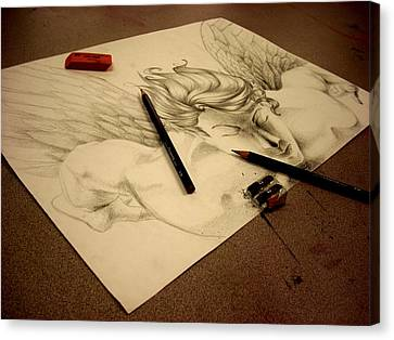 Artist's Angel Canvas Print