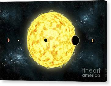 Artists Concept Of Kepler 444 Canvas Print by Marc Ward