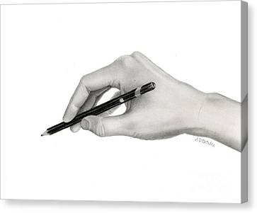 Realism Canvas Print - The Artist's Hand by Sarah Batalka