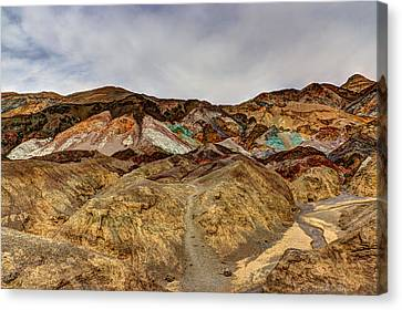 Panamint Valley Canvas Print - Artist's Paint Palette by Heidi Smith