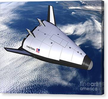 Artists Rendering Of The X-33 Reusable Canvas Print