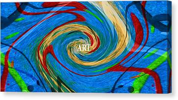 Swirling Desires Canvas Print - Artist's Vision by Dan Sproul