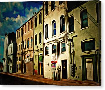Arts In The Alley Canvas Print