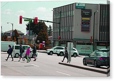 Canvas Print featuring the photograph Oakridge Intersection by Laurie Tsemak