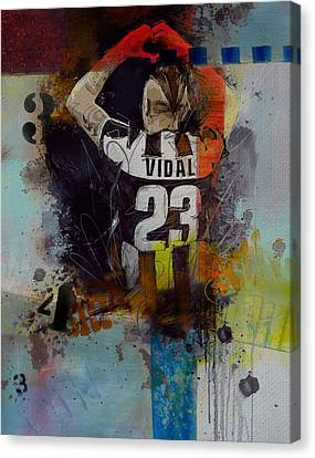 Arturo Vidal - D Canvas Print by Corporate Art Task Force