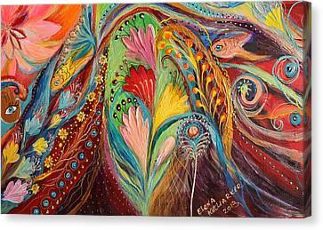 Artwork Fragment 64 Canvas Print by Elena Kotliarker