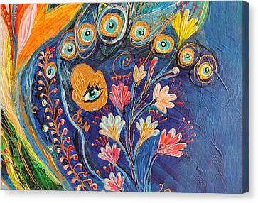 Artwork Fragment 79 Canvas Print by Elena Kotliarker