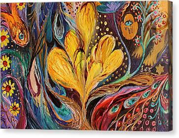 Artwork Fragment 82 Canvas Print by Elena Kotliarker