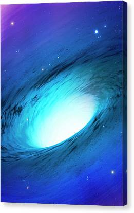 Artwork Of A White Hole Canvas Print by Mark Garlick