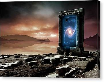 Artwork Of An Inter-dimensional Gateway Canvas Print
