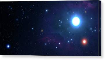 Artwork Of An Open Cluster Of Stars Canvas Print