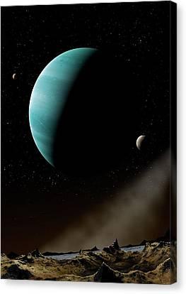 Artwork Of Exoplanet Hd69830 Canvas Print by Mark Garlick