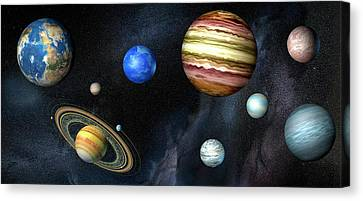 Artwork Of Exoplanets Canvas Print