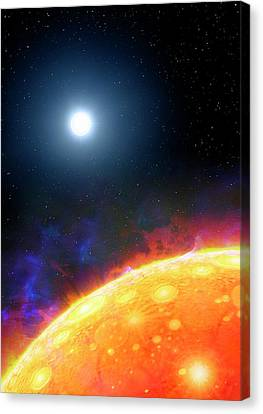 Artwork Of Molten Planet Kepler 70b Canvas Print by Mark Garlick