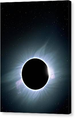 Corona Canvas Print - Artwork Of Solar Corona by Mark Garlick