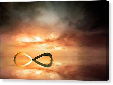 Artwork Of The Infinity Symbol Canvas Print