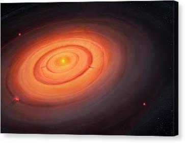 Artwork Of The Solar Nebula Canvas Print by Mark Garlick