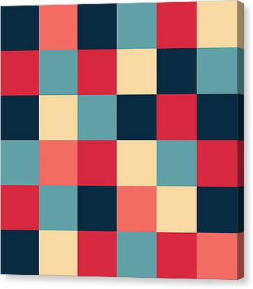Artwork Pattern Canvas Print by Mike Taylor