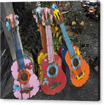 Arty Yard Guitars Canvas Print by Greg Kopriva