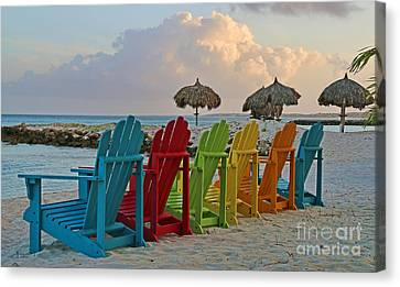 Aruba Chairs 0749 Canvas Print by Jack Schultz