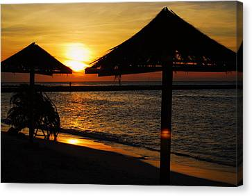 Aruba Sunset Canvas Print by Caroline Stella
