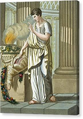 Aruspice Canvas Print by Jacques Grasset de Saint-Sauveur