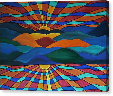 As Above So Below Canvas Print by Barbara St Jean