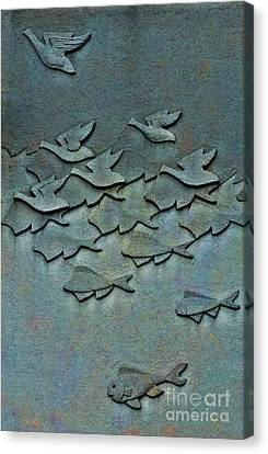As Above So Below No. One Canvas Print by Andrea Kollo