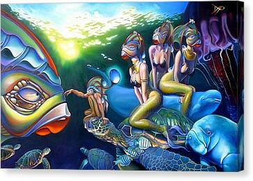 Jellyfish Canvas Print - As Above So Below by Patrick Anthony Pierson