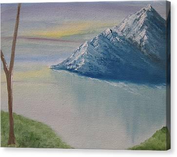 As Big As The Mountain Canvas Print by Sayali Mahajan