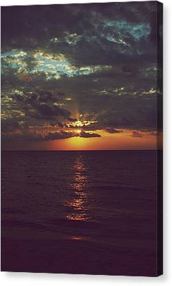 Sun Rays Canvas Print - As Day Turns Into Night by Laurie Search
