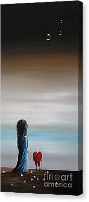 As Dreams Pass Her By By Shawna Erback Canvas Print by Shawna Erback