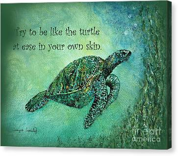 As Ease In Your Own Skin Canvas Print by Tamyra Crossley