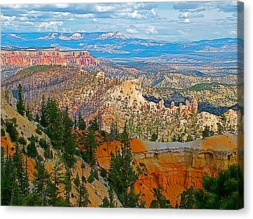 As Far As The Eye Can See From Farview Point In Bryce Canyon-utah   Canvas Print by Ruth Hager