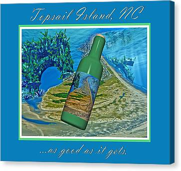 Wine Scene Canvas Print - As Good As It Gets by Betsy Knapp