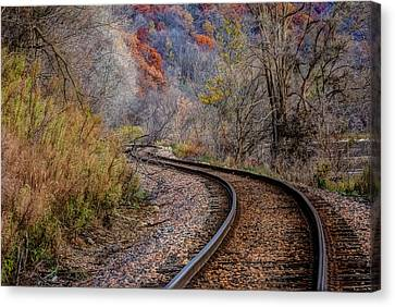 As I Walk The Tracks I Think Canvas Print
