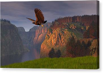 Eagle Canvas Print - As Once Beheld by Dieter Carlton