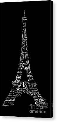 Eiffel Tower Canvas Print - As The French Say... Eiffel Tower by Marion De Lauzun