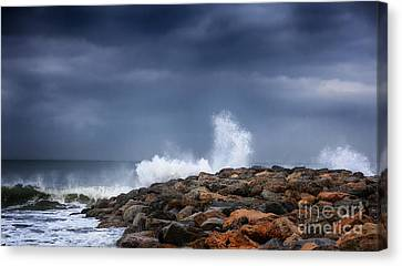As The Storm Turns Canvas Print by David Millenheft