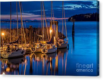 As The Sun Sets - By Sabine Edrissi Canvas Print by Sabine Edrissi