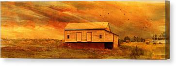 As The Sun Sets Canvas Print by Kathy Jennings