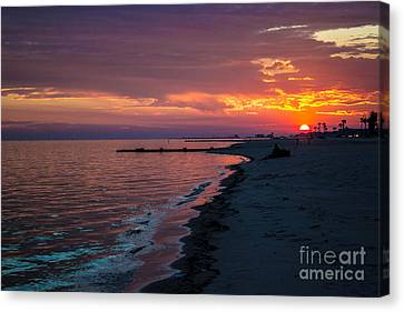 As The Sun Sets Canvas Print