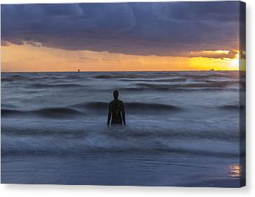 As The Tide Rolls In Canvas Print by Paul Madden