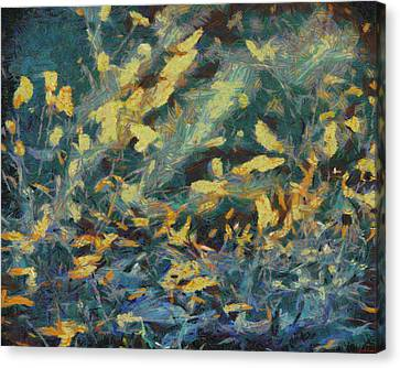 Canvas Print featuring the painting As The Wind Blows by Joe Misrasi
