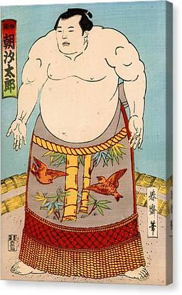 Asashio Toro A Japanese Sumo Wrestler Canvas Print by Japanese School