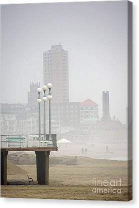 Asbury In The Distance Canvas Print by Marian DeSalvo-Rodgers